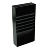 "Five-Compartment Desk Drawer Stationery Holder, Steel, 21"" Dept, Black"