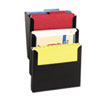 Steelmaster Wall File Kit, Letter, Three Pocket, Black