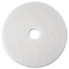"Super Polish Floor Pad 4100, 12"", White, 5 Pads/Carton"