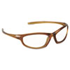 Refine 101 Safety Glasses, Wraparound, Clear AntiFog Lens, Mocha Frame