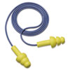 E-A-R UltraFit Earplugs, Corded, Premolded, Yellow, 100 Pairs/Box