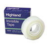 Highland Invisible Permanent Mending Tape, 3/4