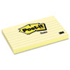 Post-it Notes Original Notes, 3 x 5, Lined, Canary Yellow, 12 100-Sheet Pads/Pack