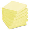 Post-it Greener Notes Recycled Notes, 3 x 3, Canary Yellow, 12 100-Sheet Pads/Pack