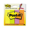 Post-it Page Markers, Four Neon Colors, 50 Strips/Pad, 4 Pads/Pack