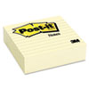 Post-it Notes Original Lined Notes, 4 x 4, Canary Yellow, 300 Sheets