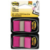 Standard Tape Flags in Dispenser, Bright Pink, 100 Flags/Dispenser