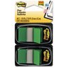 Post-it Flags Standard Tape Flags in Dispenser, Green, 100 Flags/Dispenser