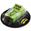 "Flags in Dispenser, ""Sign & Date"", Bright Green, 200 Flags/Dispenser"