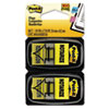"Arrow Message 1"" Flags, ""Notarize,"" Yellow, 2 50-Flag Dispensers/Pack"