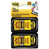"Arrow Message 1"" Flags, ""Sign Here"", Yellow, 2 50-Flag Dispensers/Pack"