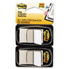 Standard Tape Flags in Dispenser, White, 100 Flags/Dispenser