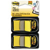 Post-it Flags Standard Tape Flags in Dispenser, Yellow, 100 Flags/Dispenser