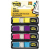 Post-it Flags Small Flags in Dispensers, Four Colors, 35/Color, 4 Dispensers/Pack