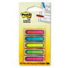 "Arrow 1/2"" Flags, Five Assorted Bright Colors, 20/Color, 100/Pack"