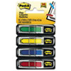"Arrow 1/2"" Flags, Blue/Green /Red/Yellow, 24/Color, 96-Flags/Pack"