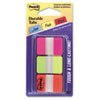 Durable File Tabs, 1 x 1 1/2, Assorted Fluorescent Colors, 66/Pack