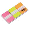 Post-it Tabs Durable File Tabs, 1 x 1 1/2, Assorted Fluorescent Colors, 66/Pack