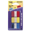 Durable File Tabs, 1 x 1 1/2, Assorted Standard Colors, 66/Pack