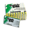 Scotch-Brite Industrial Medium-Duty Scrubbing Sponge, 3 1/2 x 6 1/4, 10/Pack