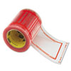 "Pouch Tape, 5"" x 6"", Clear w/Orange Border, 500/Roll"