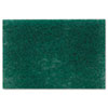 Commercial Heavy-Duty Scouring Pad, Green, 6 x 9, 1 Dozen