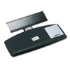 3M Knob Adjust Keyboard Tray With Standard Platform, 25-1/5w x 12d, Black