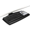 "Positive Locking Keyboard Tray, Standard Platform, 21-3/4"" Track, Black"