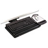 Knob Adjust Keyboard Tray, Highly Adjustable Platform, Black