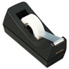Desktop Tape Dispenser, 1&quot; core, Weighted Non-Skid Base, Black