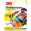 3M Multipurpose Transparency Film, Sensing Stripe, Letter, Clear, 50/Box