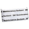 3M Maintenance Sorbent Pillow, .5gal Sorbing Volume Each, 16/Carton