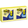 Post-it Pop-up Notes Pop-Up Note Refills, 3 x 3, Canary Yellow, Lined, 6 100-Sheet Pads/Pack