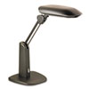 "Low-Glare Compact Fluorescent Polarizing Task Lamp, Weighted Base, 21"", Black"