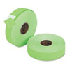 Pricemarker 1156 One-Line Labels, 3/4 x 1-1/4, Fluorescent Green, 2 Rolls/Pack