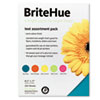 BriteHue Multipurpose Colored Paper, 24lb, 8-1/2 x 11, Assorted, 250 Sheets/Pk