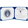 AbilityOne 7510001153250 Award Certificate Binder, 8 1/2 x 11, Air Force Seal, Blue/Silver