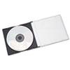 AbilityOne 7045015026513 Slim CD Case, Clear, 25/Pack