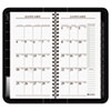 Executive Recycled Weekly/Monthly Appointment Book, Black, 3 1/4&quot; x 6 1/4&quot;, 2013