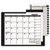 Recycled Monthly Planner, Unruled, 3-1/2 x 6-1/8, Black, 2013-2014