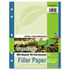 Pacon Ecology Filler Paper, 16-lb., 8-1/2 x 11, College Ruled, White, 150 Sheets/Pack