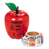 Stickers in Plastic Apple, Reward, 600 Stickers/Pack