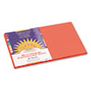 Construction Paper, 58 lbs., 12 x 18, Orange, 50 Sheets/Pack