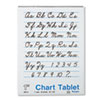 Chart Tablets w/Cursive Cover, Ruled, 24 x 32, White, 25 Sheets/Pad