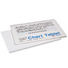 Chart Tablets w/Manuscript Cover, Ruled, 24 x 16, White, 25 Sheets/Pad