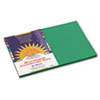 Construction Paper, 58 lbs., 12 x 18, Holiday Green, 50 Sheets/Pack