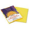 Construction Paper, 58 lbs., 9 x 12, Yellow, 50 Sheets/Pack
