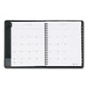 Recycled Executive Weekly/Monthly Planner, 6-7/8 x 8-3/4, Black, 2013-2014