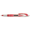 Liquid Flair Porous Point Stick Pen, Red Ink, Medium, Dozen