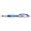 Liquid Flair Porous Point Stick Pen, Blue Ink, Medium, Dozen